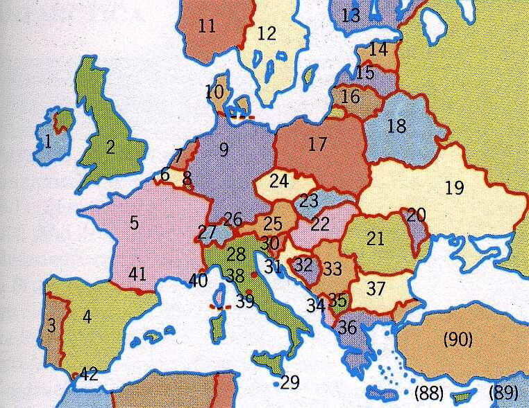 Avenarius home page a map of europe with slovakia as nr 23 click to enlarge gumiabroncs Gallery
