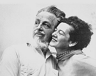 Rex Stout and Pola Stout photographed in 1944
